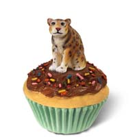 Jaguar Cupcake Trinket Box