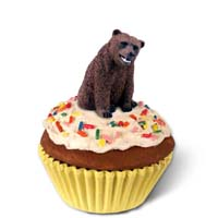 Bear Grizzly Cupcake Trinket Box