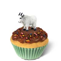 Mountain Goat Cupcake Trinket Box