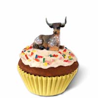 Long Horn Steer Cupcake Trinket Box