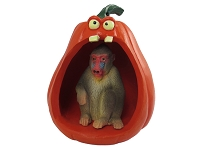Mandrill Halloween Statue Figurine and Spooky Pumpkin