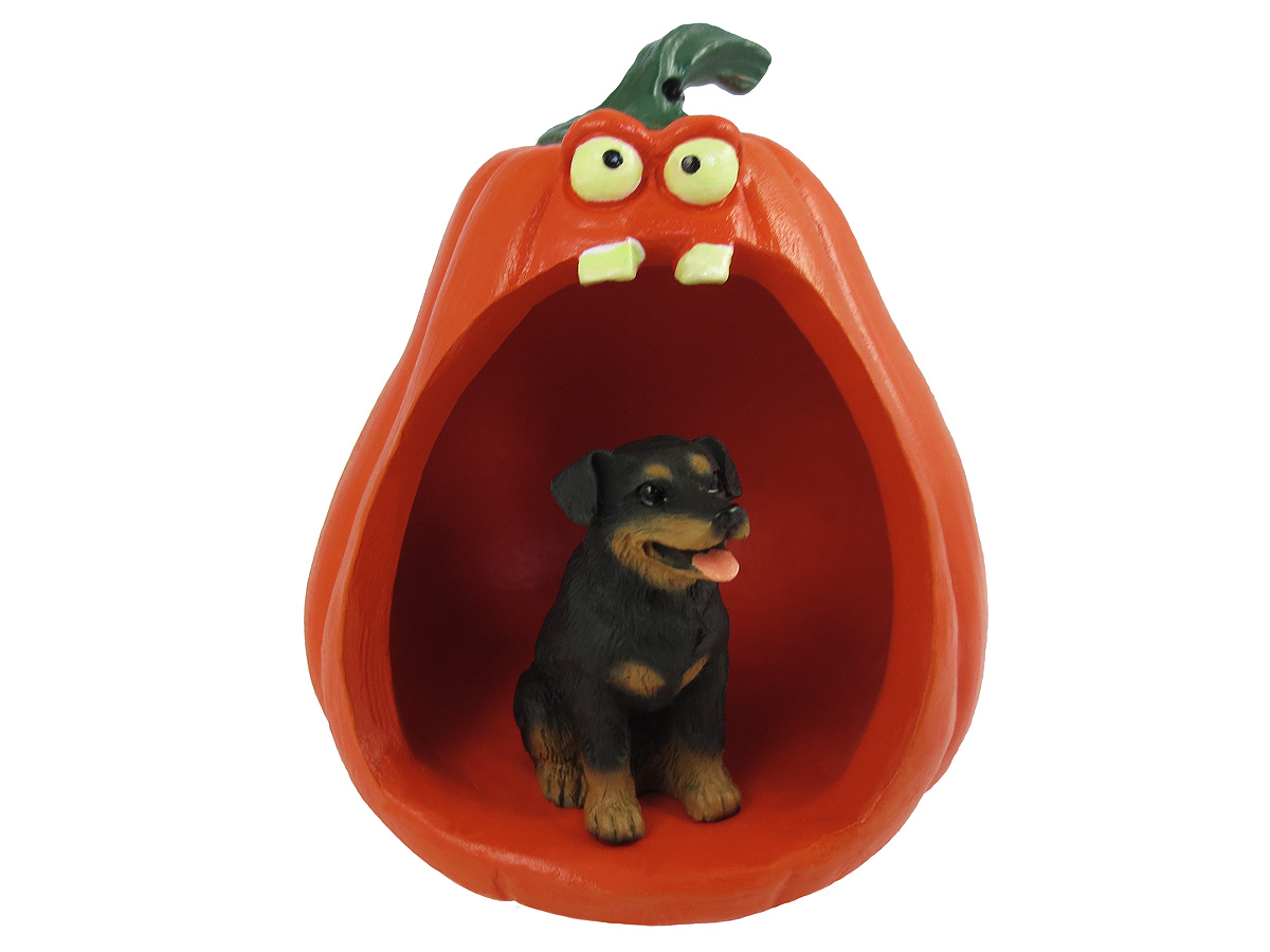 Dog Pumpkin Figurines