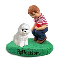 Bichon Frise Reflections w/Boy Figurine