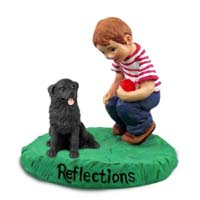 Newfoundland Reflections w/Boy Figurine