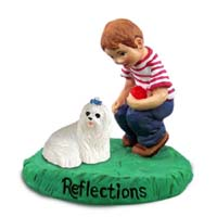 Maltese Reflections w/Boy Figurine