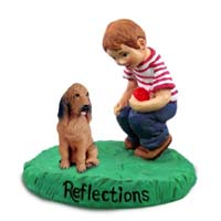 Bloodhound Reflections w/Boy Figurine
