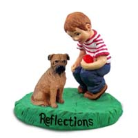 Bullmastiff Reflections w/Boy Figurine
