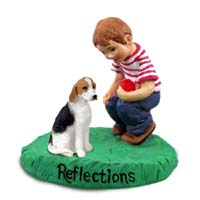American Fox Hound Reflections w/Boy Figurine