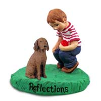 Vizsla Reflections w/Boy Figurine