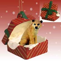 Lioness Gift Box Red Ornament