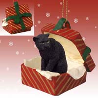 Panther Gift Box Red Ornament