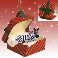 Ornaments Gift Box Red Animals