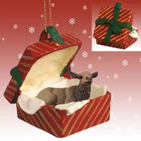 Elk Cow Gift Box Red Ornament