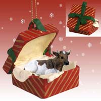 Guernsey Bull Gift Box Red Ornament