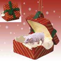 Pig Pink Gift Box Red Ornament