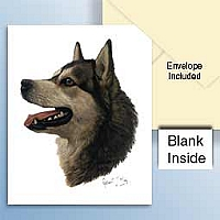 Alaskan Malamute Greeting Cards Set of 6 *Enevelope NOT included!*