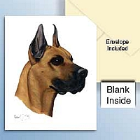 Great Dane Fawn Greeting Cards Set of 6 *Enevelope NOT included!*