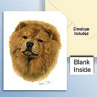 Chow Red Greeting Cards Set of 6 *Enevelope NOT included!*