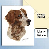 Brittany Brown & White Spaniel Greeting Cards Set of 6 *Enevelope NOT included!*