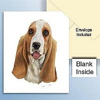 Basset Hound Greeting Cards Set of 6 *Enevelope NOT included!*