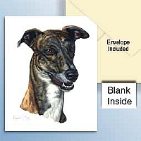 Greyhound Brindle Greeting Cards Set of 6 *Enevelope NOT included!*