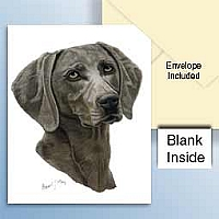 Weimaraner Greeting Cards Set of 6 *Enevelope NOT included!*