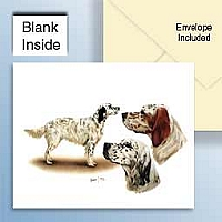 English Setter Greeting Cards Set of 6 *Enevelope NOT included!*