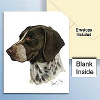 Pointer Brown & White Greeting Cards Set of 6 *Enevelope NOT included!*