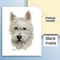 West Highland Terrier Greeting Cards Set of 6 *Enevelope NOT included!*