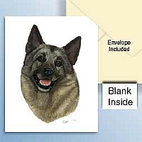 Norwegian Elkhound Greeting Cards Set of 6 *Enevelope NOT included!*