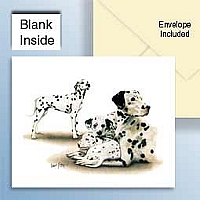 Dalmatians Greeting Cards Set of 6 *Enevelope NOT included!*