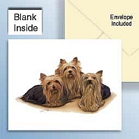 Yorkshire Terrier Greeting Cards Set of 6 *Enevelope NOT included!*