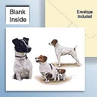 Jack Russell Terrier w/Smooth Coat Greeting Cards Set of 6 *Enevelope NOT included!*