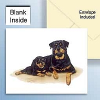 Rottweiler Greeting Cards Set of 6 *Enevelope NOT included!*