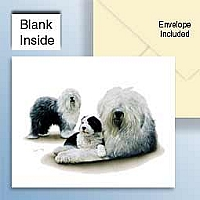 Old English Sheepdog Greeting Cards Set of 6 *Enevelope NOT included!*