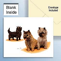 Cairn Terrier Greeting Cards Set of 6 *Enevelope NOT included!*
