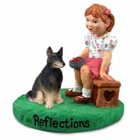 Belgian Tervuren Reflections w/Girl Figurine