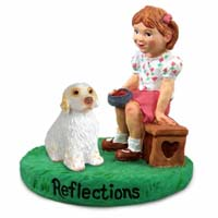 Clumber Spaniel Reflections w/Girl Figurine