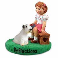 Sealyham Terrier Reflections w/Girl Figurine
