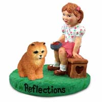 Chow Red Reflections w/Girl Figurine