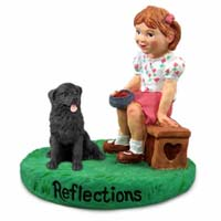 Newfoundland Reflections w/Girl Figurine