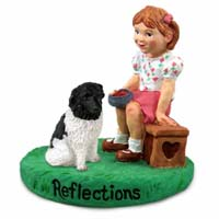 Landseer Reflections w/Girl Figurine