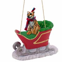 Tiger Sleigh Ride Ornament