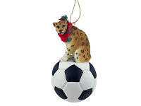 Leopard Soccer Ornament
