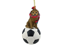 Lion Soccer Ornament