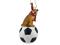 Lioness Soccer Ornament