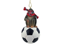Mandrill Soccer Ornament