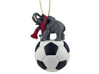 Elephant Soccer Ornament