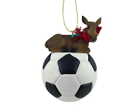 Moose Cow Soccer Ornament