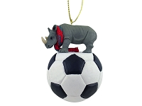 Rhinoceros Soccer Ornament